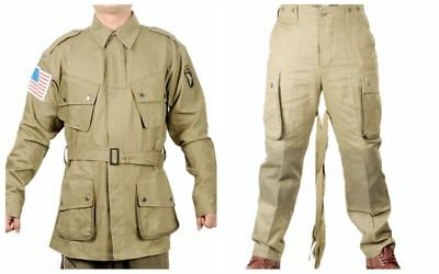 WWII US M42 AIRBORNE JUMPSUIT JACKET TROUSERS SET M1942 MILITARY UNIFORMS  XXL for sale  China