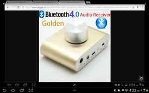 Audio-Mini-2-0-Stereo-Amplifier-with-bluetooth/Charger/Gold New