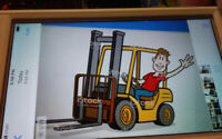 COUNTER BALANCE FORKLIFT GUY LOOKING FOR CASH JOB 289-775-2457 *