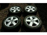 """4x Genuine VW T5 T5.1/Caravelle Thunder 17"""" alloy wheels with 4x XL Tyres"""