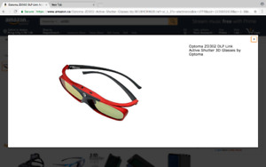 Optoma ZD302 DLP Link Active Shutter 3D Glasses by Optoma