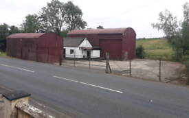 Large storage shed 50ft x 29ft and secure yard to rent
