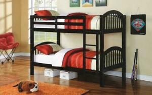 Bunk Bed - Twin over Twin Solid Wood - Espresso Espresso