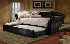 Day Bed with Twin Trundle - Black Day Bed / Twin / Black