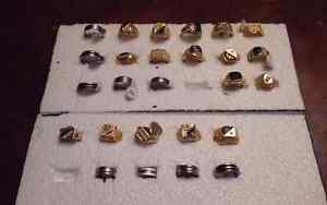 Assorted mens rings varied sizes priced at wholesale!