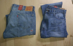 NEW 2 pairs of LEVIS jeans 505, size 40 x 34, $ 15 ea both $ 25