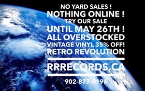 RETRO REVOLUTION - Overstocked Vintage Vinyl Sale ! Until May 26