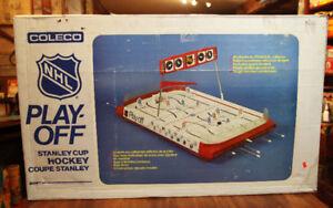 recherche jeu  de hockey sur table vintage  coleco ..munro...eag