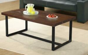 Coffee Table Set - 3 pc - Walnut | Black 3 pc Set / Walnut | Black