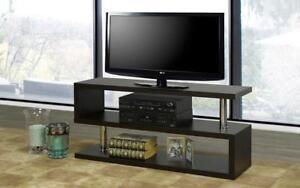 TV Stand with Shelves - Espresso Espresso