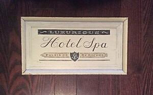 Hotel Spa Plaque