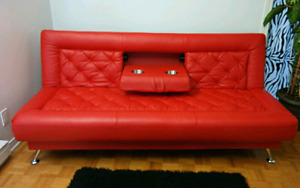 Sofa lit cuir véritable / Sofa bed real leather