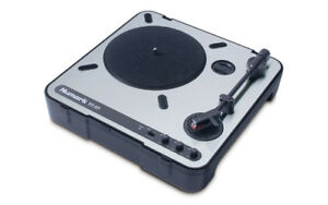 Numark PT-01 PORTABLE turntable w/speaker and runs on batteries.