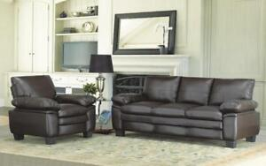 Sofa Set - 3 Piece - Brown 3 pc Set / Brown