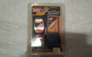 Bright 9.6V NiMH Battery Pack And Charger NEW IN PACKAGE