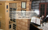sauna infrarouge de qualite, sauna infrarouge a domicile,