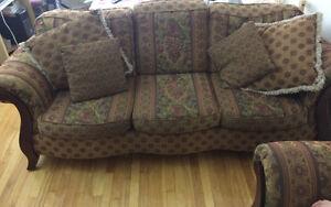 Sofa set., bedframe with matress