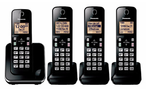 PANASONIC KX-TGA410 Cordless Phones – 4 Handsets / bases