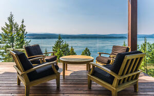 Oceanfront Luxury Home Quadra Island (Campbell River) furnished