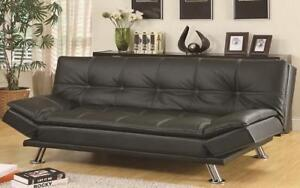 ***BLOWOUT SALE****SOFA BED WITH ADJUSTABLE ARM REST (BLACK)****LOWEST PRICES