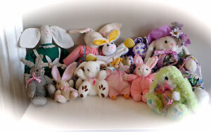 COLLECTION OF 11 BUNNIES for EASTER