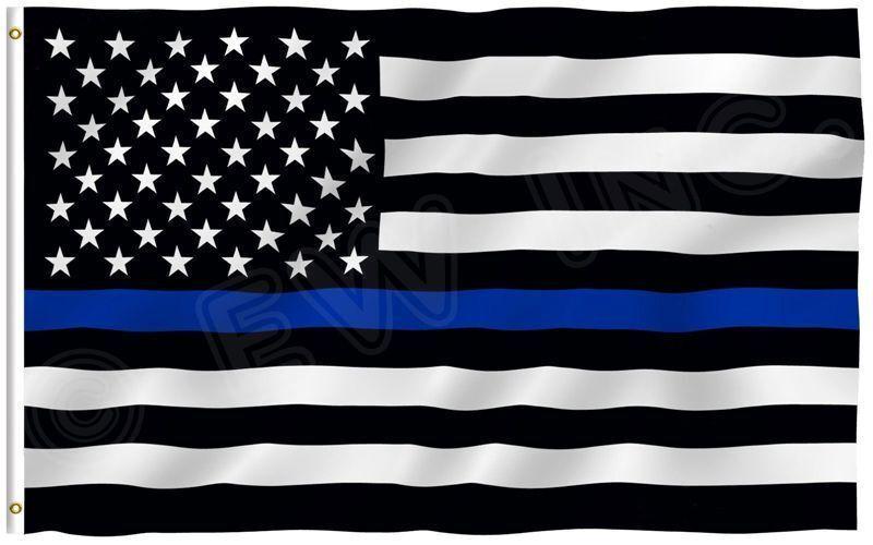 Quality Thin Blue Line American Police Flag 3X5' FADE Resist
