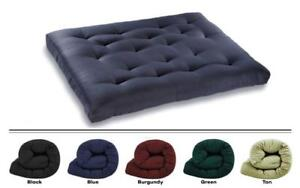 Deluxe Futon Mattress - Solid Color Burgundy