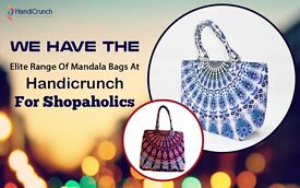 Assorted range of mandala and kantha bags-from Handicrunch