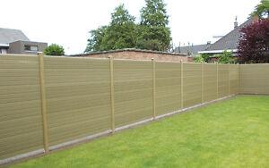 Natural Oak UPVC / Wood Composite Plastic Fencing Panel