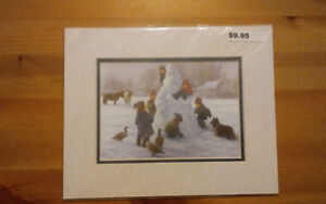 """Lovely winter pictures, 8""""  x  10"""""""
