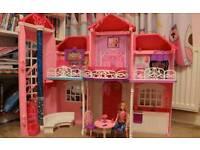 Massive barbie doll bundle malibu house plane etc