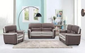 Sofa Set - 3 Piece - Brown | Beige 3 pc Set / Brown | Beige