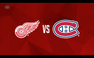 Billets/Tickets Canadiens de Montreal vs Red Wings March/Mars 21