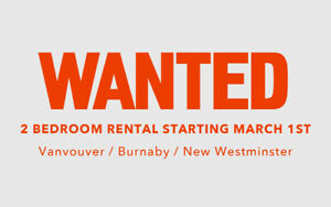 Wanted: 2 Bedroom Rental starting March 1st