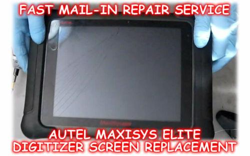 AUTEL MAXISYS ELITE BROKEN DIGITIZER SCREEN REPLACEMENT MAIL-IN REPAIR SERVICE