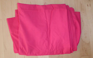 Hot pink twin size sheet or fabric