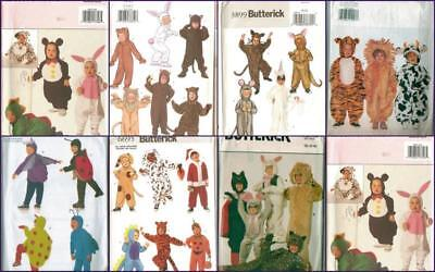 OOP Butterick Patterns Animals Halloween Costume Pattern Kids Toddler  You Pick - Halloween Costumes Patterns