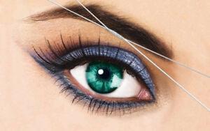 Eyebrow threading,  waxing, facials and more...