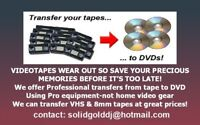 PROFESSIONAL VIDEOTAPE TO DVD TRANSFERS