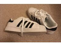 White Trainers with black stripes