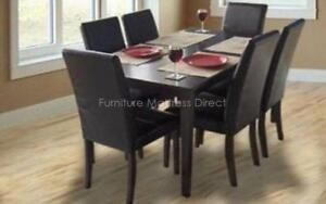*** BRAND NEW *** HUGE SALE *** 7-PIECE SOLID WOOD KITCHEN | DINING SET WITH 6 CHAIRS ***LIMITED STOCK****DON'T MISS OUT