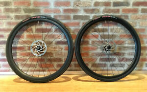 700C alloy wheelset TRP discs Thru-axle front QR rear w/CX tyres