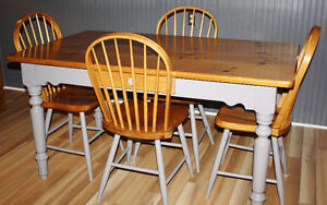 Solid Pine Kitchen Table Set
