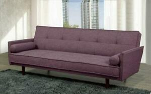 Fabric Sofa Bed with Arm Rest - Purple Purple