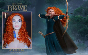 "BRAND NEW Deluxe Disney's BRAVE ""Merida"" Copper Curly Wig"