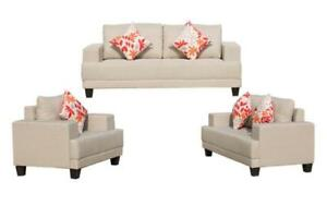 Sofa Set - 3 Piece - Beige | Brown | Grey 3 pc Set / Beige