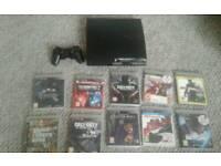 PS3 500gb plus 31 games