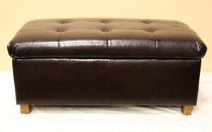 Nice Leather Storage ottoman / Hassock SEE VIDEO