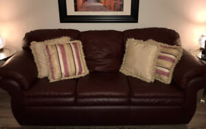La-Z-Boy Leather Sofa and Chair