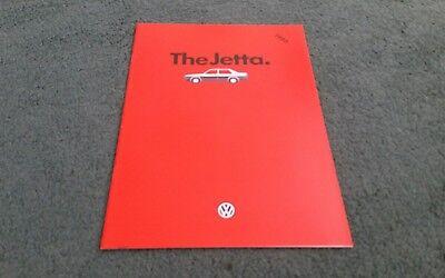 1986 VW JETTA 9/85 UK BROCHURE C TX GL C DIESEL CL TURBO DIESEL